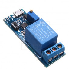 Zpožďovací časové relé, 0 ~ 25s, 5~30V DC, USB micro