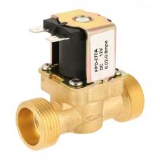 """Solenoid, elektromagnetický ventil, 3/4"""", 12V DC, přímý, mosaz, FPD-270A, NC"""
