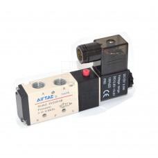 Elektromagneticky ovládaný rozvaděč vzduchu, pneumatický, 5/2 Way, 12V DC, 0.15 ~ 0.8 MPa, 4V210-08