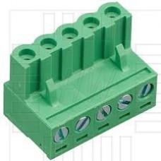 Precizní svorkovnice, zásuvka se šroubkem, 5 pólů, 320V, 20A, 5mm, 2EDGK-5.0-05P, 90°