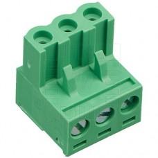 Precizní násuvná svorkovnice, zásuvka se šroubkem, 3 póly, 320V, 20A, 5mm, 2EDGK-5.0-03P, 90°