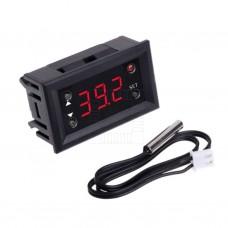 Inteligentní panelový termostat -20°C ~ +100°C, NTC senzor, 12V, W1218