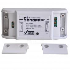WiFi a RF relé Sonoff, 433MHz, 1 výstup 10A, 230V AC