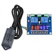 Termostat s hygrostatem, -40°C ~ 120°C, 1% ~ 99%, duální LED, 12V DC, XH-M452
