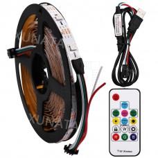 5m pásek 150 inteligentních RGB LED NeoPixel s bezdrátovým ovládáním, WS2812B, 30LED/m, IP65, 5V, 18W
