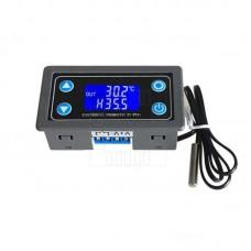 Panelový termostat, -50°C ~ 110°C, alarm, 12V DC, XY-WT01
