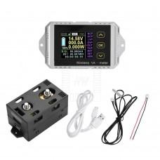 Bezdrátový stejnosměrný wattmetr - V, A, W, Ah, 0~100V, 0~100A, VAT-1100