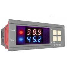 Hygrostat s termostatem, 0% ~ 100%, -40°C ~ +120°C, LED, 230V AC , SHT2000