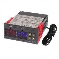 Termostat , duální zobrazovač LED, -55°C ~ +120°C, LED, 230V AC , ALARM, STC3018