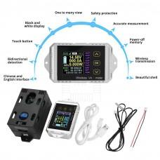 Bezdrátový stejnosměrný wattmetr - V, A, W, Ah, t, 0~400V, 0~300A, VAT-4300, dotykový