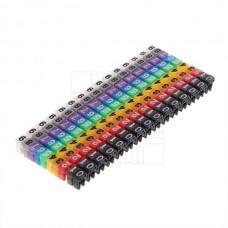 Barevné plastové kabelové C značky na vodiče 2-3mm, 150ks