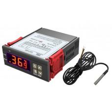 Digitální termostat DST-1000, -50°C ~ +99°C, LED, 2 výstupy, digitální senzor 1m, 230V  AC