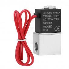 """Solenoid, dvoucestný  1/8""""pneumatický hliníkový ventil, 230V AC, NC, 2V025-08"""