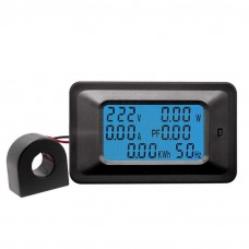Panelové měřidlo, wattmetr, - AC V, A, W, Wh, f, účiník, 0~100A, P06S-100