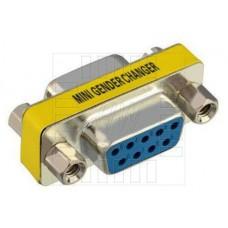 Mini spojovací konektor DB9 F / DB9 F, přímý, redukce