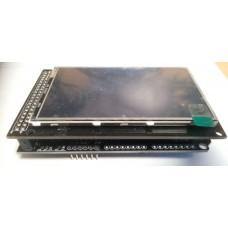 """Sestava - dotykový barevný displej 3.2"""", 240x400px, 16:9, SD + shield pro Arduino DUE, CTE32W + CTE TFT"""