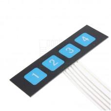Samolepící membránová klávesnice 1 x 4
