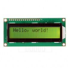 LCD  podsvětlený  2x16 znaků (žlutá), 1602A