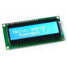 LCD  podsvětlený 2x16 znaků (modrá), 1602A