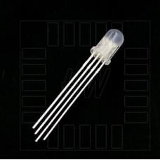 Tříbarevná LED, 4 piny, společná anoda, RGB, 5mm