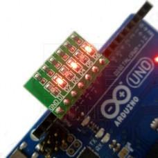 6x LED indikátor stavů IO portů, červená