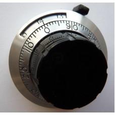 Precizní 14ti otáčkový hmatník, stupnice 0-14.0, hřídel 6mm, aretace
