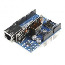 Ethernet Shield W5100 R3, slot SD,  s modulem PoE, kompatibilní IEEE802.3af