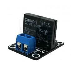 Elektronické SSR relé 1x, modul, 5V, zátěž 2A/240VAC