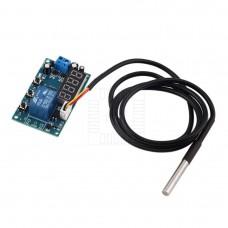 Digitální termostat s LED, 0°C ~ 127°C, START / STOP, senzor DS18B20 , 1m