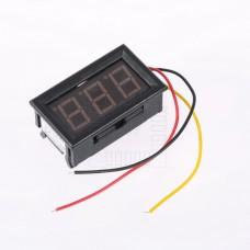 Panelové měřidlo - DC voltmetr 0~100V, červené LED
