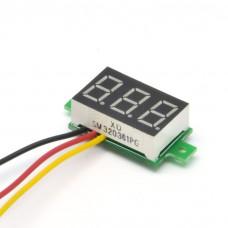 Panelové měřidlo - DC voltmetr 0~100V, rudá