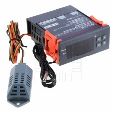 Hygrostat s termostatem, 1% ~ 99%, -50°C ~ +110°C, LED, 12V DC , WH8040